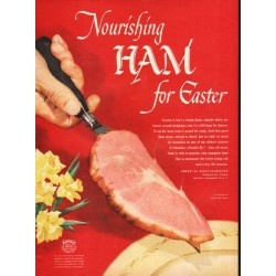 "1948 American Meat Institute Ad ""Nourishing Ham"""