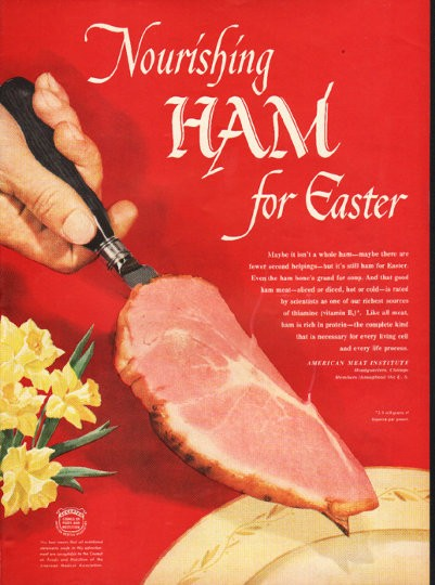 1948 American Meat Institute Vintage Ad Quot Nourishing Ham Quot