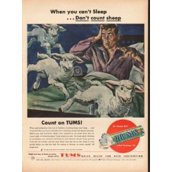"1948 Tums Antacid Ad ""When you can't Sleep"""