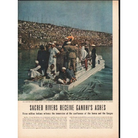 1948 Gandhi's Ashes Article ~ Sacred Rivers