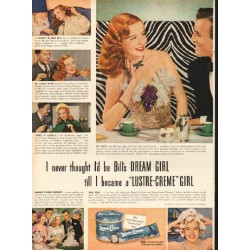 "1948 Lustre-Creme Shampoo Ad ""Bill's Dream Girl"""