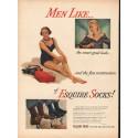 "1948 Esquire Socks Ad ""the smart good looks"""