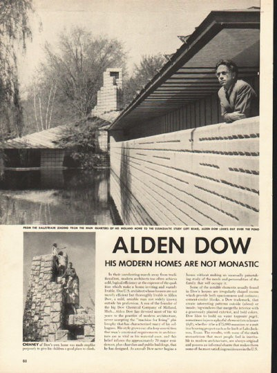 1948 Alden Dow Vintage Article His Modern Homes