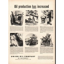 "1948 Union Oil Company Ad ""production has increased"""