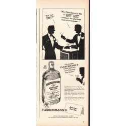 "1948 Fleischmann's Gin Ad ""Not just dry"""