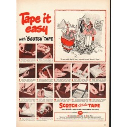 "1948 Scotch Tape Ad ""Tape it easy"""