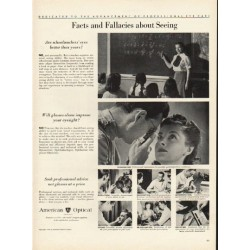 "1948 American Optical Ad ""Facts and Fallacies"""