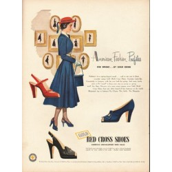 "1948 Red Cross Shoes Ad ""American Fashion Profiles"""