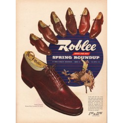 "1948 Roblee Shoes Ad ""Spring Roundup"""