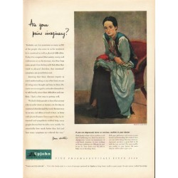 "1948 Upjohn Pharmaceuticals Ad ""pains"""
