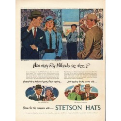 "1948 Stetson Hats Ad ""Ray Milland"""