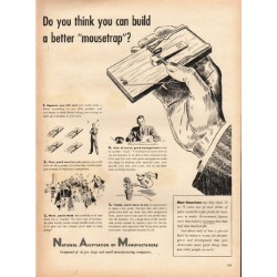 "1948 National Association of Manufacturers Ad ""mousetrap"""
