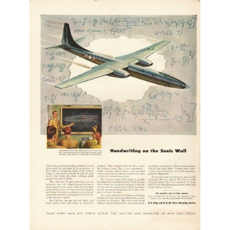 """1948 U. S. Air Force Ad """"Sonic Wall"""""""