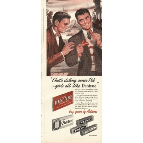 "1948 Dentyne Gum Ad ""dating sense"""