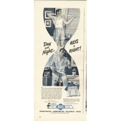 "1948 Reis Underwear Ad ""Day and Night"""