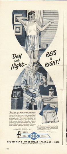1948 Reis Underwear Vintage Ad Quot Day And Night Quot