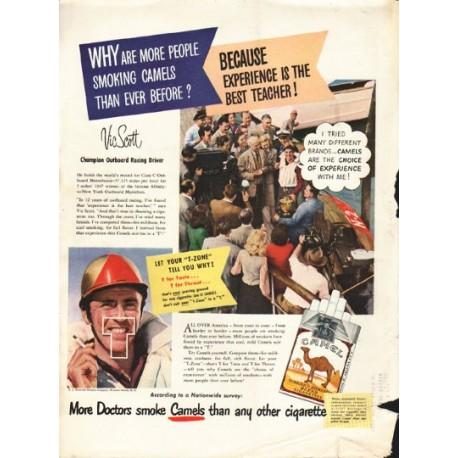 """1948 Camel Cigarettes Ad """"Vic Scott"""""""