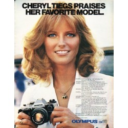 "1980 Olympus Camera Ad ""Cheryl Tiegs"""