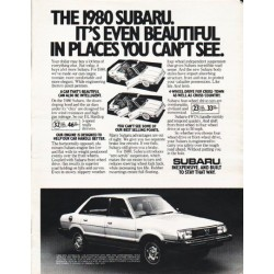 "1980 Subaru Ad ""beautiful in places"" ~ (model year 1980)"