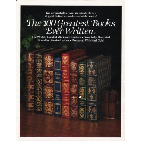 "1980 The Easton Press Ad ""100 Greatest Books"""