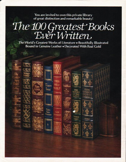 1980 The Easton Press Vintage Ad Quot 100 Greatest Books Quot