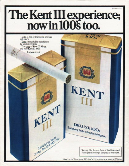 1980 Kent Cigarettes Vintage Ad Quot Kent Iii Experience Quot