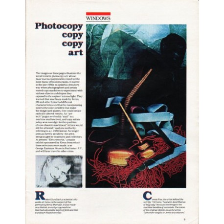 """1980 Photocopy art Article """"Photocopy copy copy art"""""""