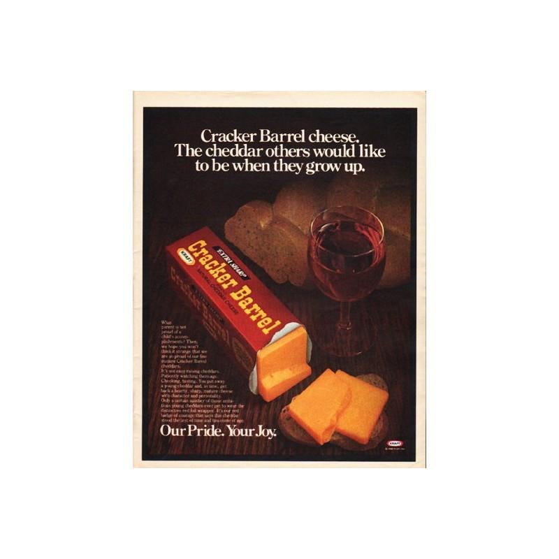 1980 Cracker Barrel Cheese Vintage Ad Quot The Cheddar Quot