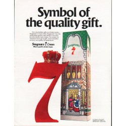 "1980 Seagram's 7 Crown Ad ""Symbol"""