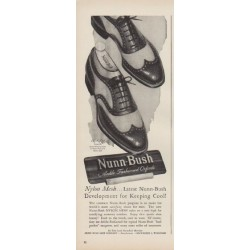 "1949 Nunn-Bush Ad ""Nylon Mesh ... Latest Nunn-Bush"""