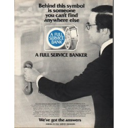 "1980 America's Full Service Bankers Ad ""this symbol"""
