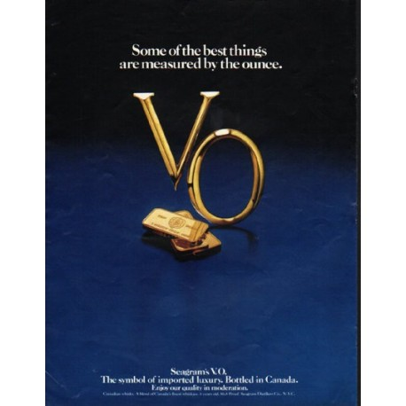 """1980 Seagram's V.O. Ad """"best things"""""""