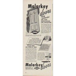 "1949 Malarkey doors Ad ""Now Trademarked"""