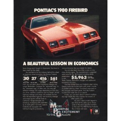"1980 Pontiac Firebird Ad ""beautiful lesson"" ~ (model year 1980)"