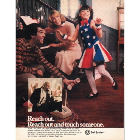 """1980 Bell System Ad """"Reach out."""""""