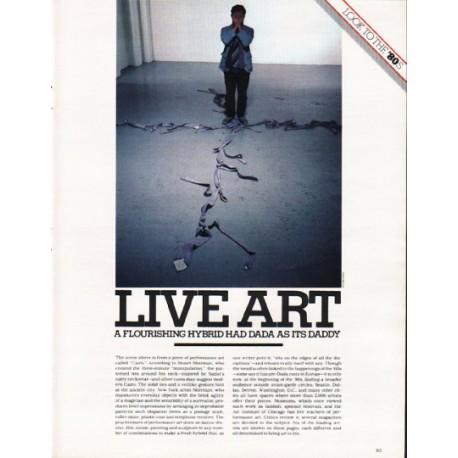 "1980 Live Art Article ""A flourishing hybrid"""