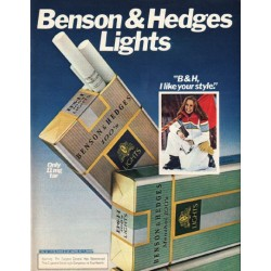 "1980 Benson & Hedges Cigarettes Ad ""I like your style"""