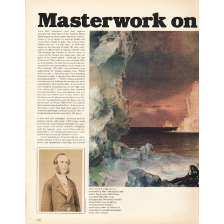 "1980 Frederic Church Article ""The Icebergs"" ~ Masterwork on Ice"