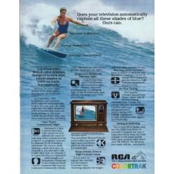 "1980 RCA Television Ad ""shades of blue"""