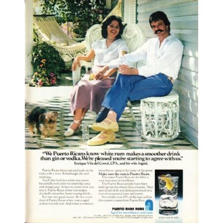 "1980 Puerto Rican Rums Ad ""white rum"""