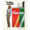 "1980 More Cigarettes Ad ""I'm More satisfied"""