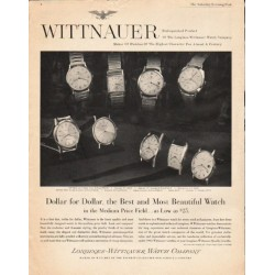 "1963 Longines-Wittnauer Watch Ad ""Dollar for Dollar"""
