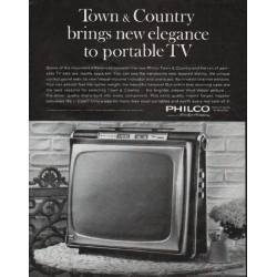 "1963 Philco Television Ad ""Town & Country"""