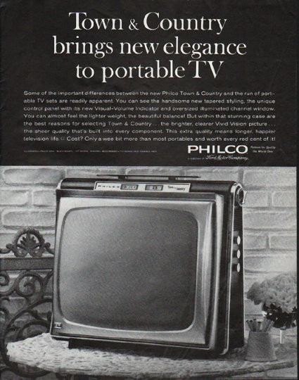 1963 Philco Television Vintage Ad Quot Town Amp Country Quot