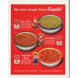 "1963 Campbell's Soup Ad ""He-man"""