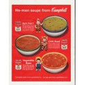 """1963 Campbell's Soup Ad """"He-man"""""""