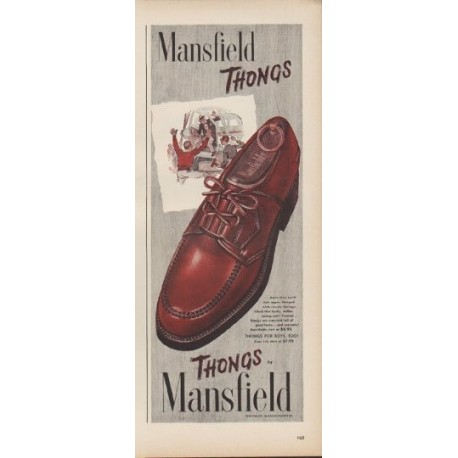 "1949 Mansfield Thongs Ad ""Thongs by Mansfield"""