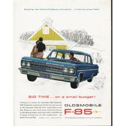 "1963 Oldsmobile Ad ""Big Time"" ~ (model year 1963)"