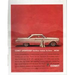 """1963 Mercury Comet Ad """"Comet Sportster"""""""