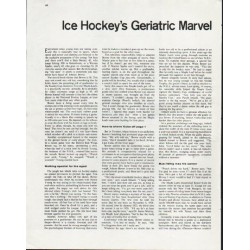 "1963 John Bower Article ""Geriatric Marvel"""